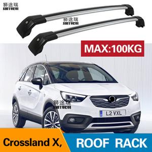 OPEL 크로스 X SUV 2017 2018 알루미늄 합금 측 2PCS 지붕 바는 크로스 레일 지붕 물품 CUV SUV 랙 바