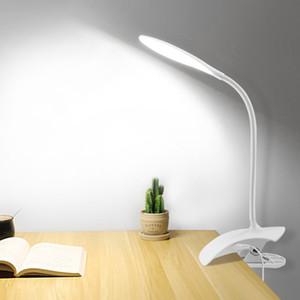 led clip USB eye protection table lamp bedroom portable mini table lamp White 5V 1 pc