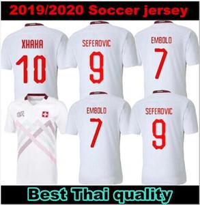 스위스 2020 멀리 2021 스위스 축구 유니폼 흰색 (20 개) (21) 스위스 Akanji 리아 로드리게스 Elvedi 국가 대표팀 축구 셔츠
