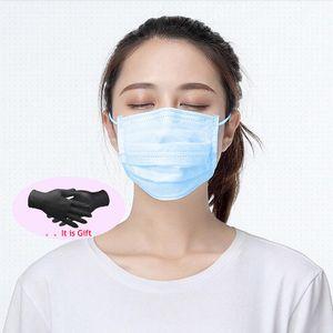 BUY-Maske Frei Handschuhe Einweggesichtsmasken 3 Ebenen Gesichtsschutzhülle Masken Anti-Staub-Maske Maske staubdicht