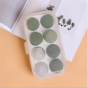 8 шт Косметического Puff супер мягкие без латекса хранения слоеных коробки косметического яйцо ящика для хранения набор порошок