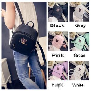 Brand New Arrivals Women Bag Backpack Girl School Shoulder Bag PU Leather Travel Rucksack Bags Solid Diamonds Zipper Bags