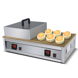 Dijital Tayvan Sokak Gıda Kabarık Sufle Krep Makinası Demir Çift Plaka sufle Pan Kek Makinesi Japon Peynir Kek Baker