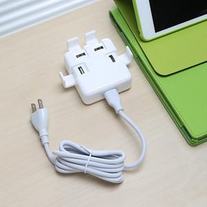 New 4 portas USB Adapter HUB carregador de parede 30W de potência de carregamento extensão socket inteligente 4-Port viagem desktop POWERPORT