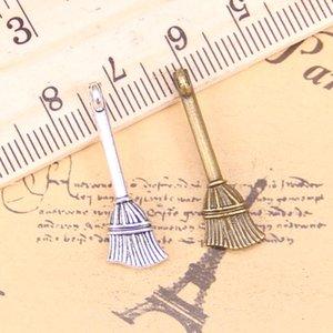 20pcs encantos Beson escoba 27x10mm antiguos pendientes, plata tibetana de la vendimia de joyería, para el collar pulsera