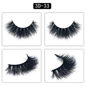Mink cabelo cílios Big 3D 25 milímetros Dramatic longos cílios longos cílios postiços 25 Estilos de 100 por cento pacote real Mink Lashes 3D Cílios