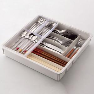 Lagerflaschen Gläser Küchenschublade Besteck Tablett Box Organizer Schrank Multi Partition Safe Easy Clean Wohnung Teiler Endveredelung Halter