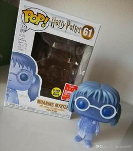 Bravo Funko Myrtle Geme Harry Potter Pop 2019 sdcc exclusivo 61 Mistério Mini Glow para crianças brinquedo