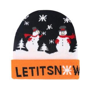 Noel Beanie Bere kar Çocuklar kar tanesi Kafatası Cap Açık Sıcak Kayak Yılbaşı Noel Süsleri Çocuk Parti Şapkası FFA3324 Caps let