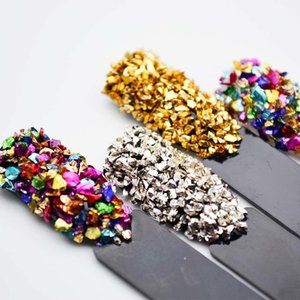 Broken Glass Strass pour ongles Gems Nail Art Mix strass strass 3D Nail Art Décorations Pierres pour ongles