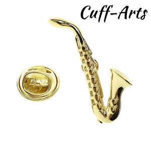 Spilla da uomo Oro Sassofono Spilla Orgoglio Spilla Hijab Spilla Smalto Broche Con Confezione regalo di Cuffarts P10227