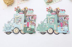 Hot Garden Romantic Paper 3D Laser Pop Up Greeting Gift Cards Handmade Birthday Cards Postcards Wishes 5014 Flower Couple Etiquette Kraft