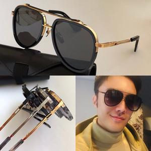 New MACH TWELV lunettes de soleil hommes TOP fashion style vintage métal design cadre ovale protection extérieur UV 400 lunettes de lentilles avec étui Vendu par