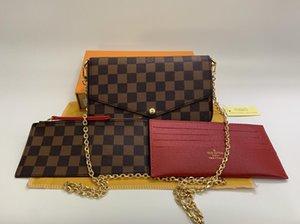 Newest LUXURY Bags Fashion women Designer Shoulder bags High quality brand bag Size 21 13 3 cm Model 61276