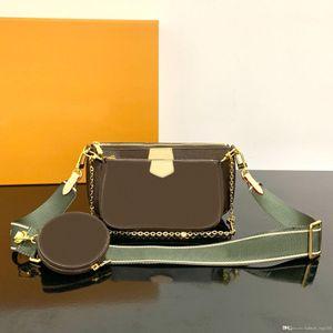 El diseñador de moda de lujo clásico del bolso de las mujeres de impresión Chain Letter bolso de la tarjeta original de alta calidad del cuero del monedero de Crossbody del mensajero del hombro