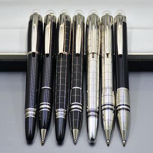 Promoción de precio al por mayor - Alta calidad Star-waiker Resina negra Rollerball pen Bolígrafo Plumas Plumas de lujo MB Escuela de suministros de oficina
