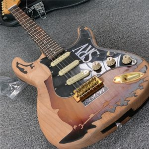 Gratuit ShippingFactory boutique Rare Guitar Custom Shop Masterbuilt Limited Edition Stevie Ray Vaughan Tribute SRV Number One Electric Guitar Vint