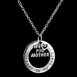 """Ожерелье Family Gift Elegant ожерелья Letter """"Forever In My Heart"""" для рождественских Цепные ожерелья"""