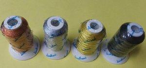 Popolare 4 colori metallici filo da ricamo bronzo / argento / oro / macchina di colore nero / fili da ricamo a mano