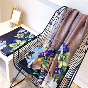 Best2020 spring summer new styles of European and American big brand silk scarves ladies sunscreen G large printing beach towel air conditio