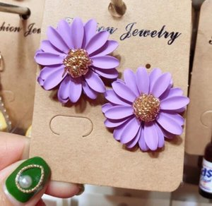 Colore orecchini del crisantemo fiore gioielli orecchio pendente personalità leggiadramente eccellente orecchino orecchini temperamento marea femminile