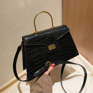 المرأة مصمم كبير حقيبة يد الموضة التمساح الكتف حقائب اليد حلقة معدنية CROSSBODY نساء حقائب نمط جديد حقيبة ذات جودة عالية