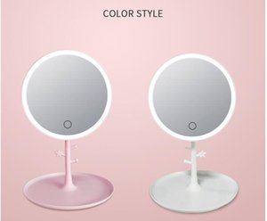 Led Makeup Mirror Beauty Mirror Folding Desk Lamp Fill Light Desktop Receive Touch Web Celebrity Gift Creative Charging Mirror