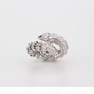Women Animal Ring Rose Gold Woman Diamond Emerald Snake Rings Charms Wedding Engagement Jewelry