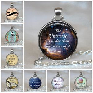 The New Fashion Bible Verse Christian Lettering Necklace Glass Cabochon Quote Inspirational Jewelry Women Men Believe Gifts