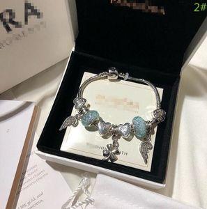 Luxo de alta qualidade Bangle Marca Designer Pandora pulseira de aço Marca Nome amantes Mulheres E Homem pulseira Hot Sale