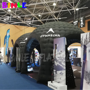 Top sale 5m Dia. event advertising inflatable dome tent with 4 entrances,four legs inflatable spider tent for event