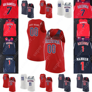 Arizona Wildcats Basketball Jersey 22 Zeke Nnaji 1 Nico Mannion 0 Josh Smith Vert 3 Dylan 13 Pierre Gettings 4 Chase Max fais-moi peur Jeter