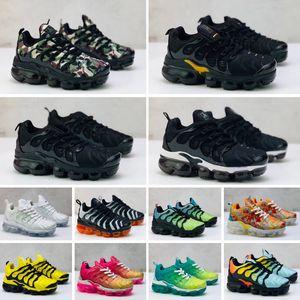 Max Vapormax Plus Plus TN Yeni Çocuklar TN Artı Erkek Bebek Kız Çocuk Spor Ayakkabıları Moda Sneaker açık Siyah Beyaz Çok Kamuflaj Koşu Ayakkabı Eur28-35