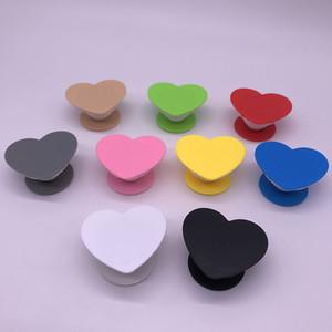 Em forma de coração colorido expansível Air Bag Suporte Universal Ring Finger aperto Titular rotação de 360 graus Suporte Stent para telefone celular e tablet