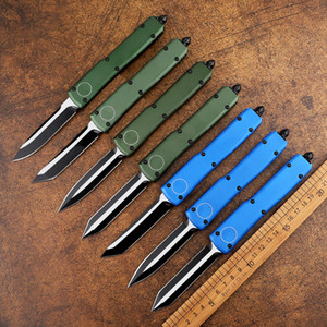 Mini knife high-tech automatic knife D2 blade aviation aluminum handle double-action tactical breaker outdoor camping pocket EDC tool