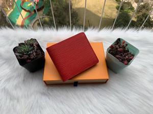 Portafogli da uomo di modo Bande da portafoglio uomo classico con portafoglio con texture multiple Bifold brevi portafogli con scatola