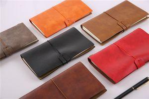 New Leather NOTEBOOK 비즈니스 편지지 6 색 사무용 노트북 일기장 스케치북 리필 지 수첩 일기장 선물