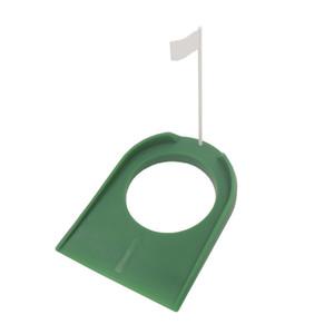 Гольф, положив зеленый регулирующий стакан, флаг, флаг в помещении тренировочная помощь