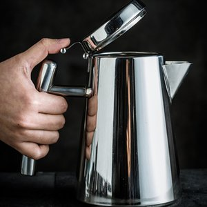 Stainless Steel Cold Water Juice Coffee Pot Teapot Jug 1.2L 1.7L Silver