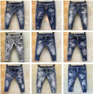 Dsquared2 D2 2020 nuovo arrivo superiore del progettista degli uomini dei jeans denim ricamo pantaloni moda Fori pantaloni esso Dimensione 44-54