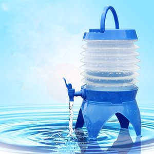 5L Camping Retractable Folding Bucket For Outdoor Activities Multi-Function Large Capacity Portable Drinking Water Tank