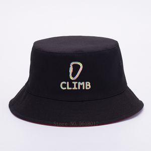 Cap Rainbow Escalada Clip de impresión para mujer para hombre del sombrero del cubo Panamá alta calidad del verano del casquillo del visera de Sun pesca pescador sombrero