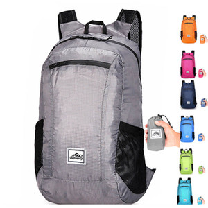 Folding Backpack waterproof travel backpack Laptop Rucksack for male and women Outdoor large shopping travel bag Casual Bags
