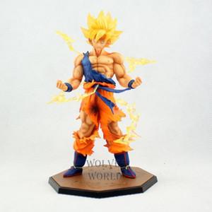 Venta al por mayor Anime Dragon Ball Z 17 CM Súper Saiyan Goku Son Goku en caja PVC Figura de Acción Modelo Colección Giocattoli Brinquedos