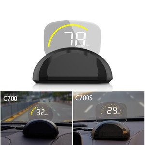 HD C700 OBD2 Car HUD Head Up Display Automobile Trip On-Board Computer GPS Speedometer Clear projector Diagnostic Tool
