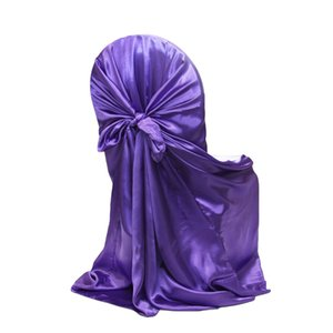 Hot venda Novo 21 Wedding Party Cadeira Universal cetim capa para Auto cor do laço Banquet Evento Xmas Detalhes no Restaurante Fornecedor