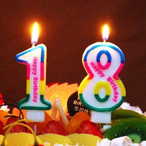 0-9 Número Velas de Dibujos Animados Velas Digitales Bebé Ducha Niños Niños Fiesta de Cumpleaños Decoración de Pasteles