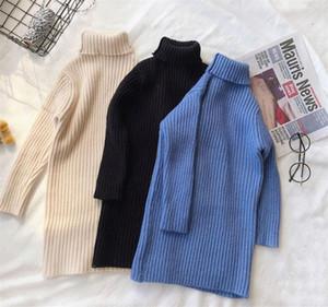 Il nuovo stile delle ragazze Vestito di moda autunno-inverno cotone Fashion Girls Abiti vuote cotone Maglioni Top outwears vestiti