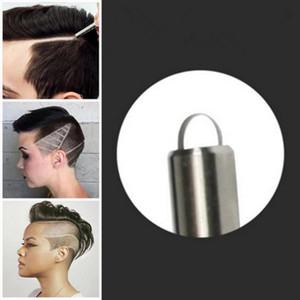 El más reciente de afeitar de acero refinado de petróleo mágica cabeza de pelo pluma de talla hombre muesca pelo pluma barbero afeitado navaja de afeitar de la ceja