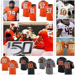 Personalizados Oklahoma State Cowboys Qualquer Nome Número # 2 Tylan Wallace 3 Spencer Sanders 30 Chuba Hubbard 81 Justin Blackmon Football Jerseys S-3XL